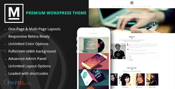 Max – Retina One Page WordPress Theme
