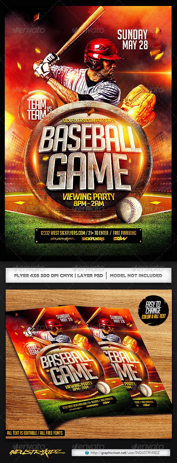 Baseball Flyer Template Psd By Industrykidz Graphicriver
