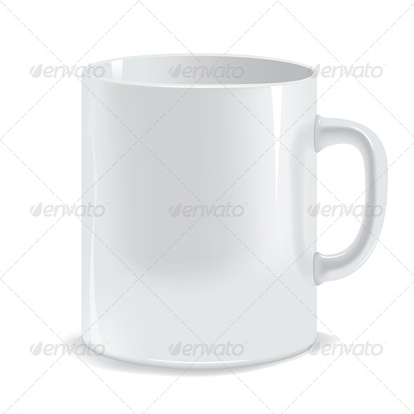 White Cup - Food Objects