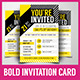 Multipurpose Bold Invitation Card - GraphicRiver Item for Sale