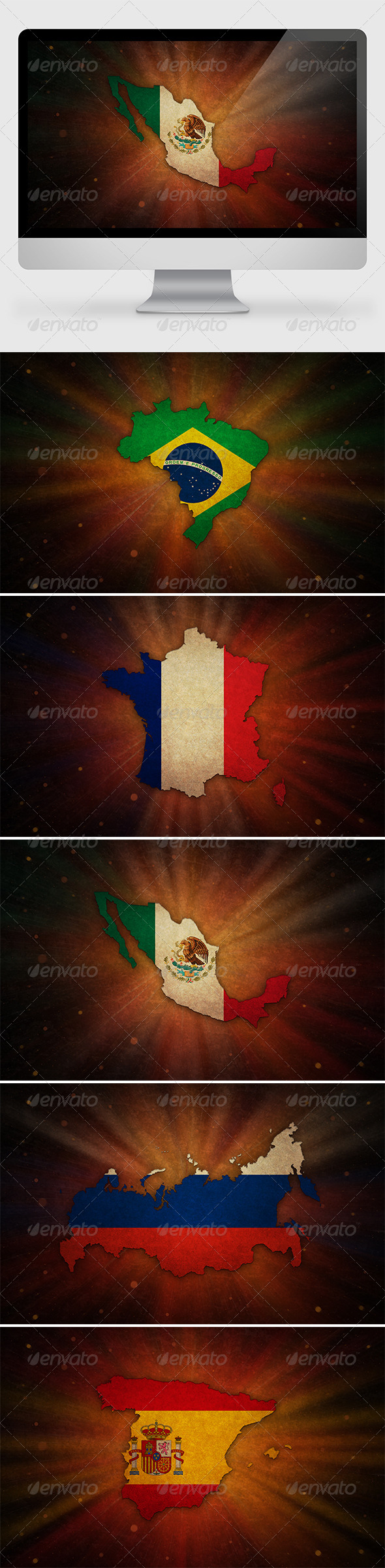 5 Countries Backgrounds (2) - Backgrounds Graphics