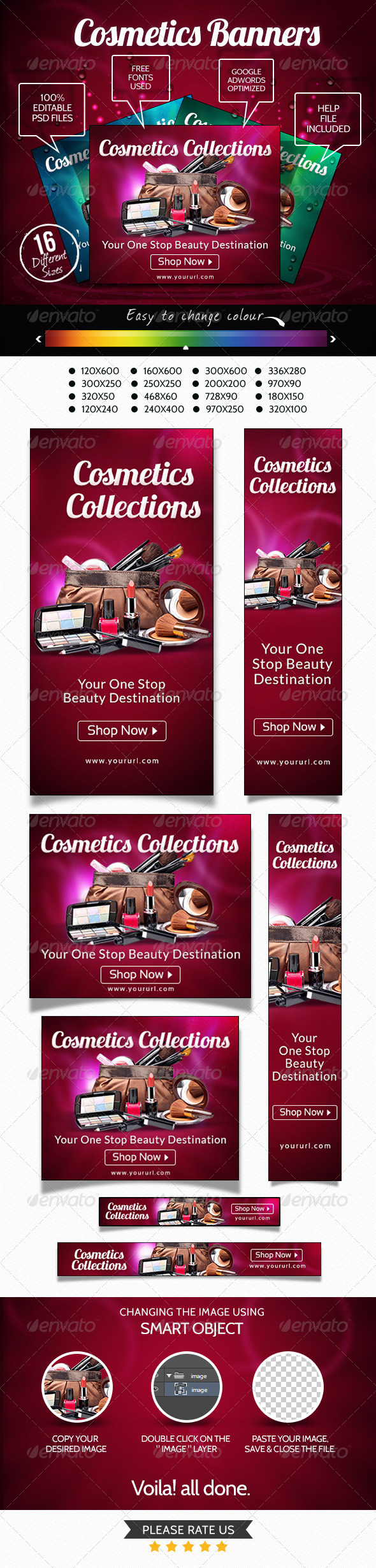 Cosmetic Collection Banners - Banners & Ads Web Elements