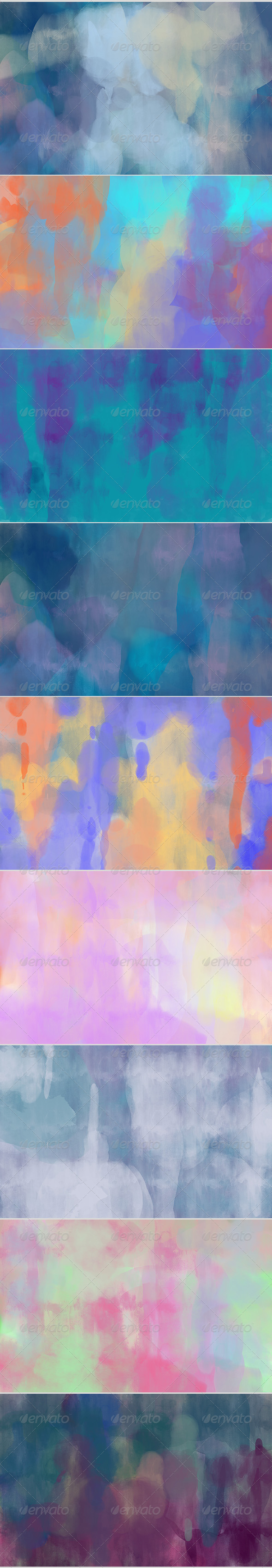 9 Colorful Backgrounds - Abstract Backgrounds