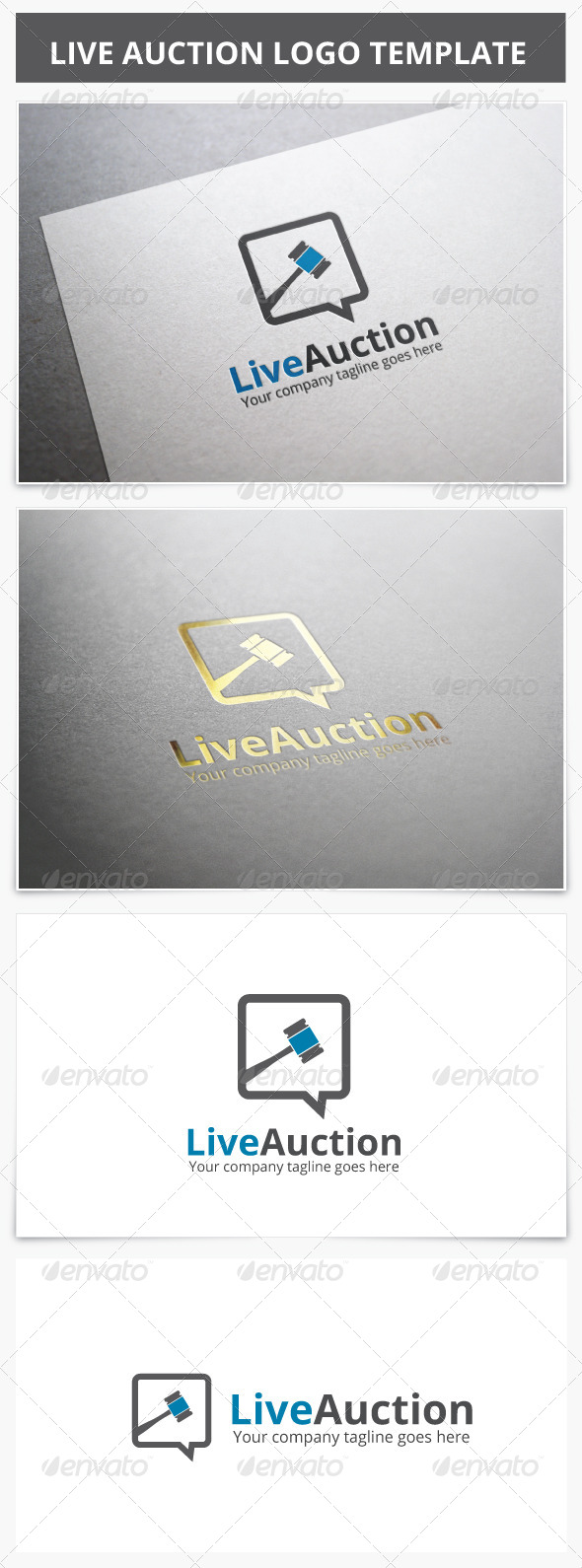 Live Auction Logo - Objects Logo Templates