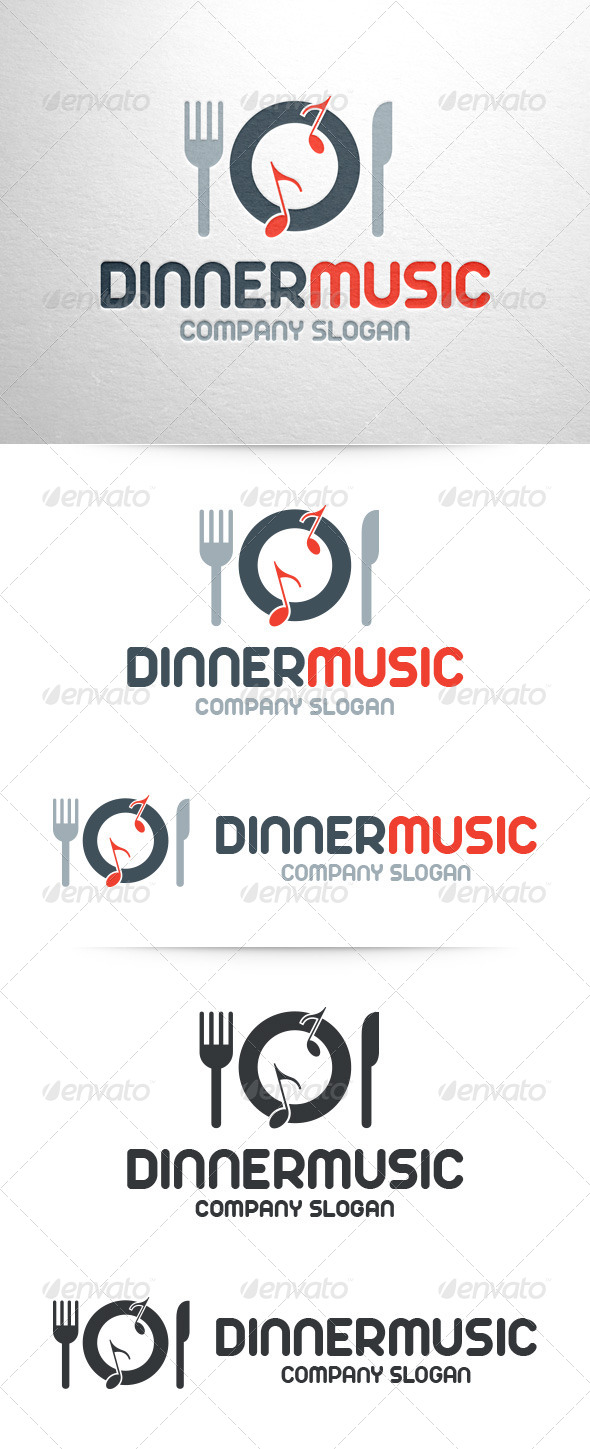 Dinner Music Logo Template - Objects Logo Templates