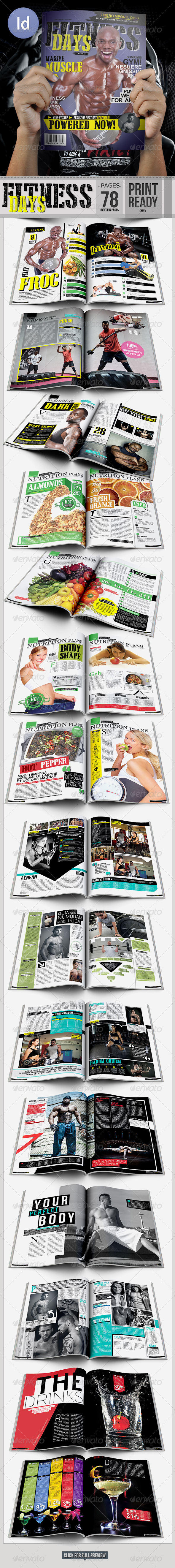 Fitness Day Magazine A4 - Magazines Print Templates
