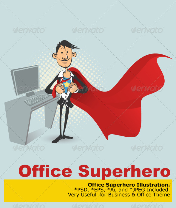 Office Superhero - Characters Vectors