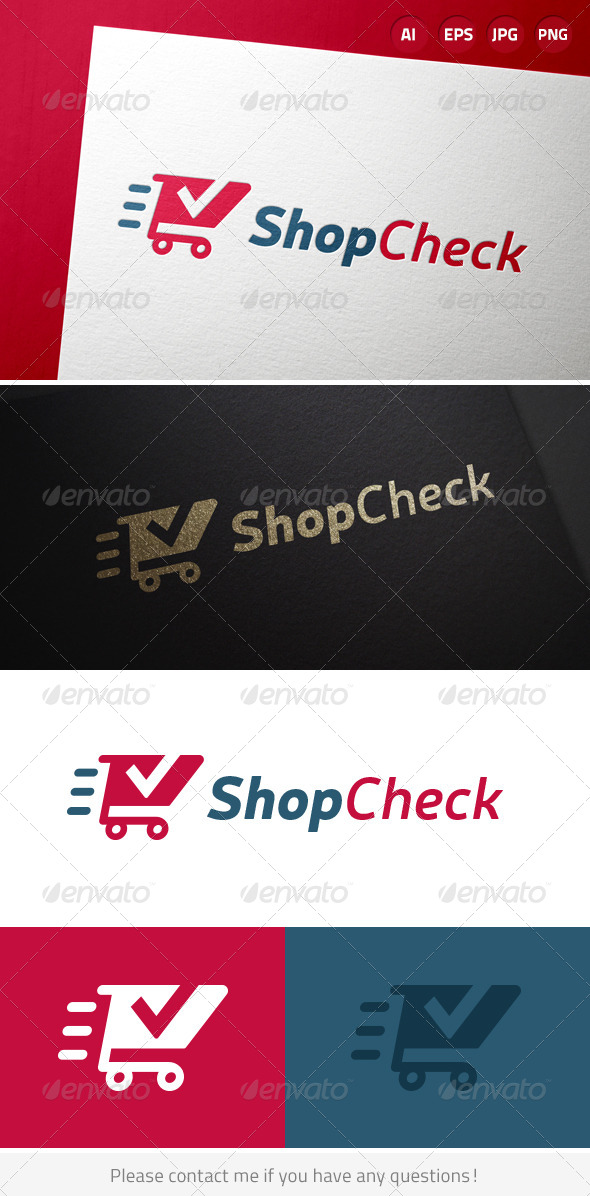 Shop Check Retail Logo - Symbols Logo Templates