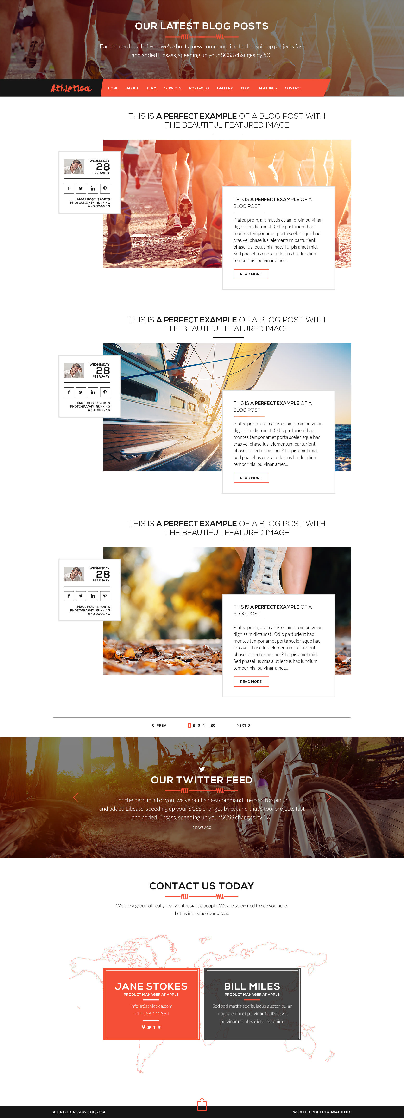 Athletica - Retina Parallax OnePage Web Template by AVAThemes ...