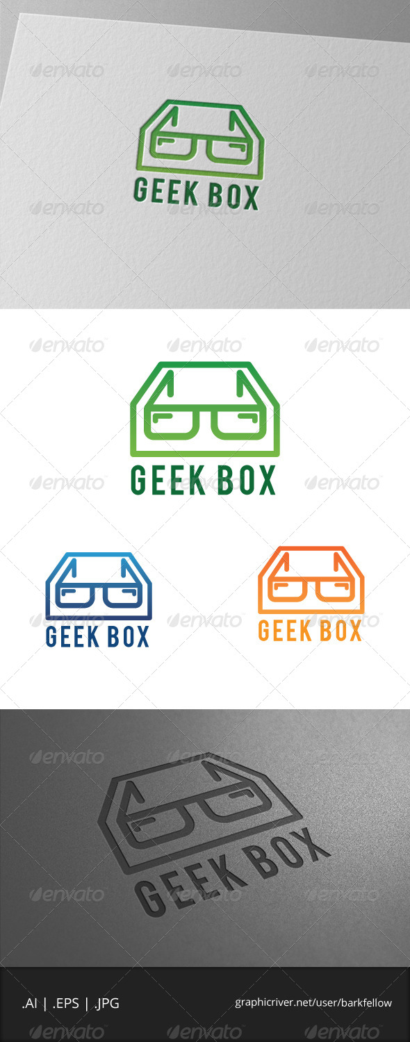 Geek Box Logo Template - Humans Logo Templates