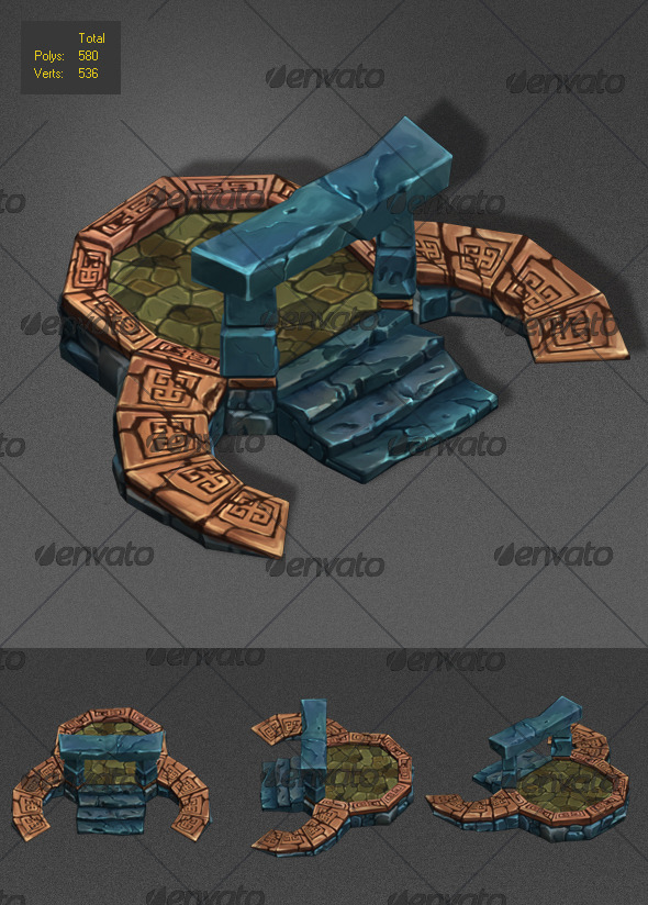 Floor Level Low Poly_2 - 3DOcean Item for Sale