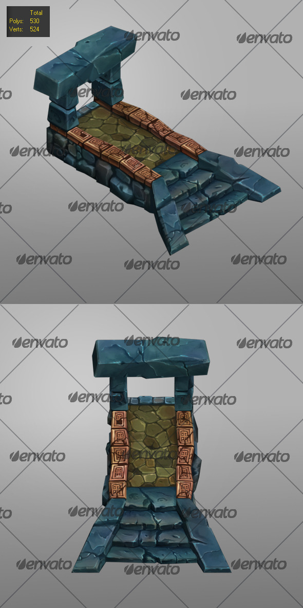 Floor Level Low Poly_1 - 3DOcean Item for Sale