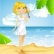 Girl on Beach - GraphicRiver Item for Sale
