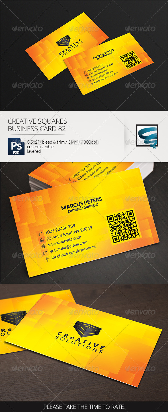 Creative Squares Business Card 82 - Creative Business Cards