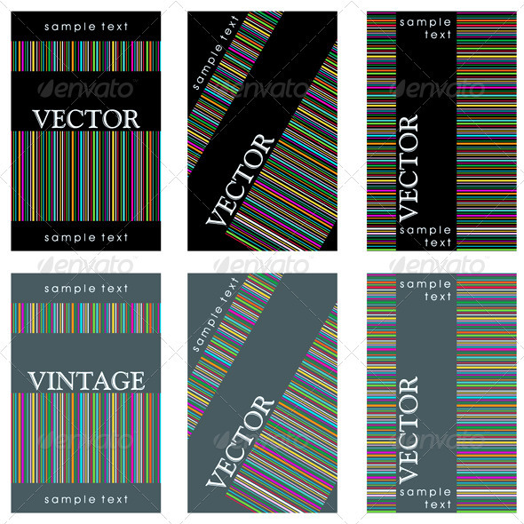Wine Labels Design Template Set - Man-made Objects Objects