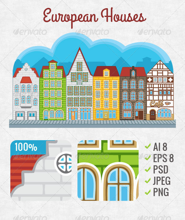 European Houses - Buildings Objects