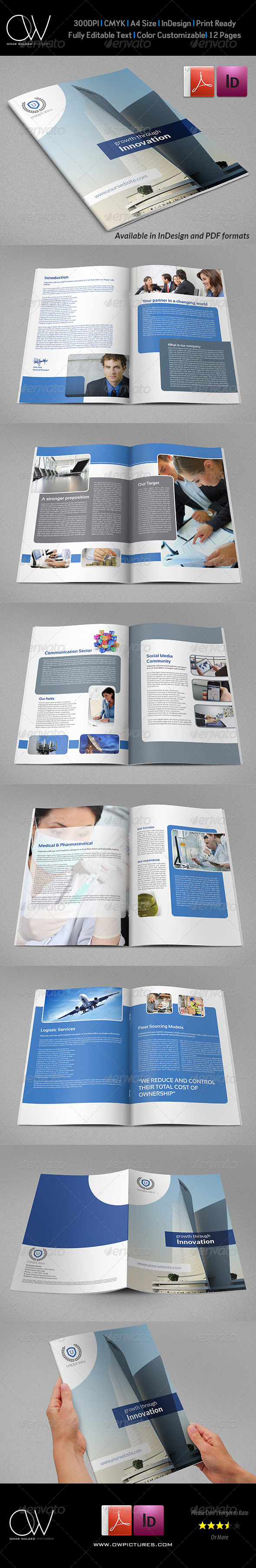 Company Brochure Template Vol.31 - 12 Pages - Corporate Brochures