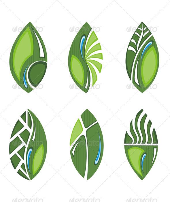 Green leaves - Decorative Symbols Decorative