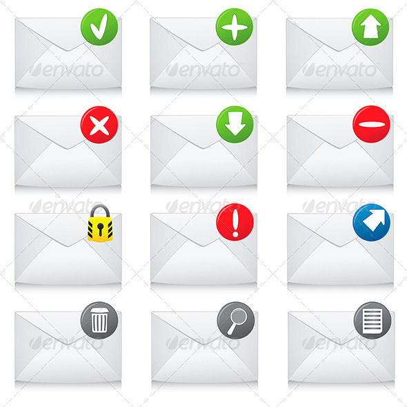 Email Icons - Web Technology