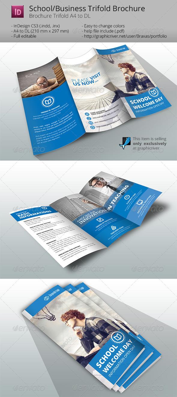 Indesign Brochure Template Business/School - Informational Brochures
