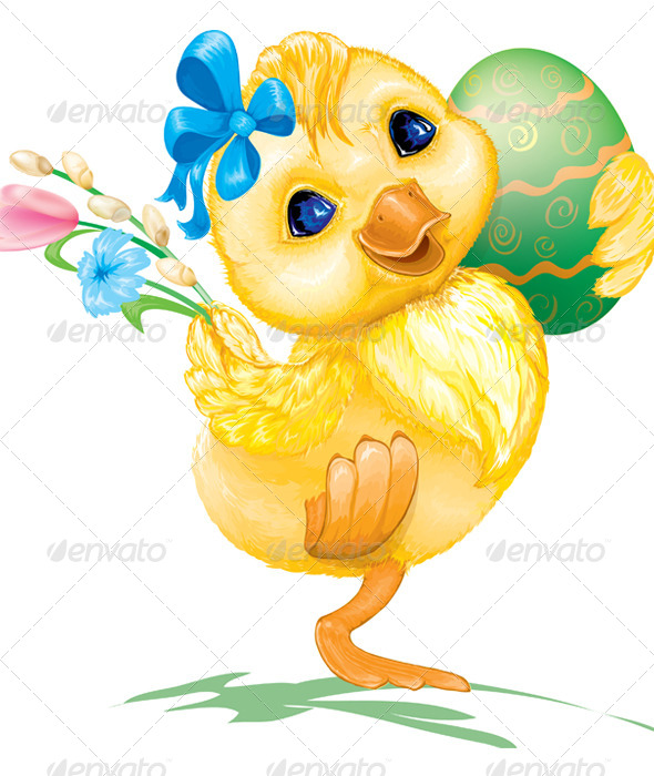 Easter Duck with Egg - Miscellaneous Seasons/Holidays