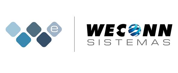 Weconn sistemas logo separador nome medium
