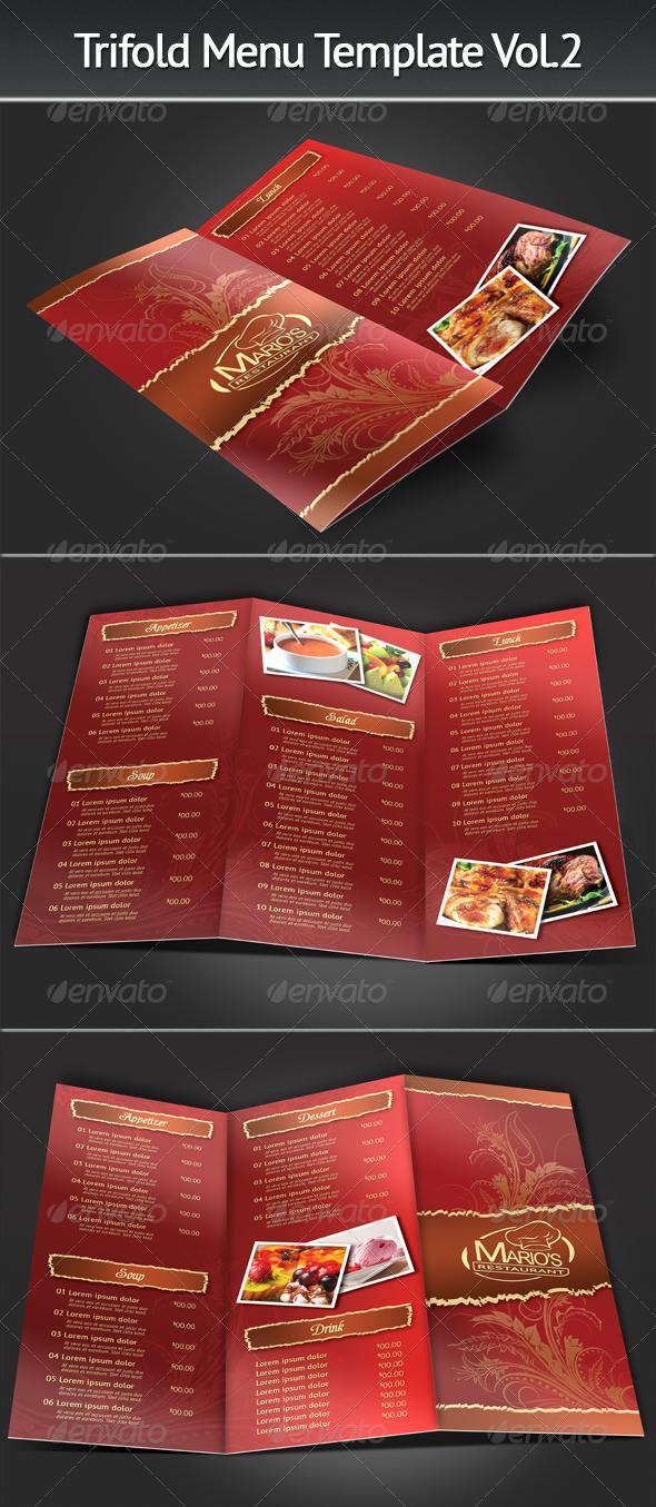 Trifold Menu Template Vol.2 - Food Menus Print Templates