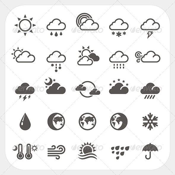 Weather Icons Set - Seasons Nature