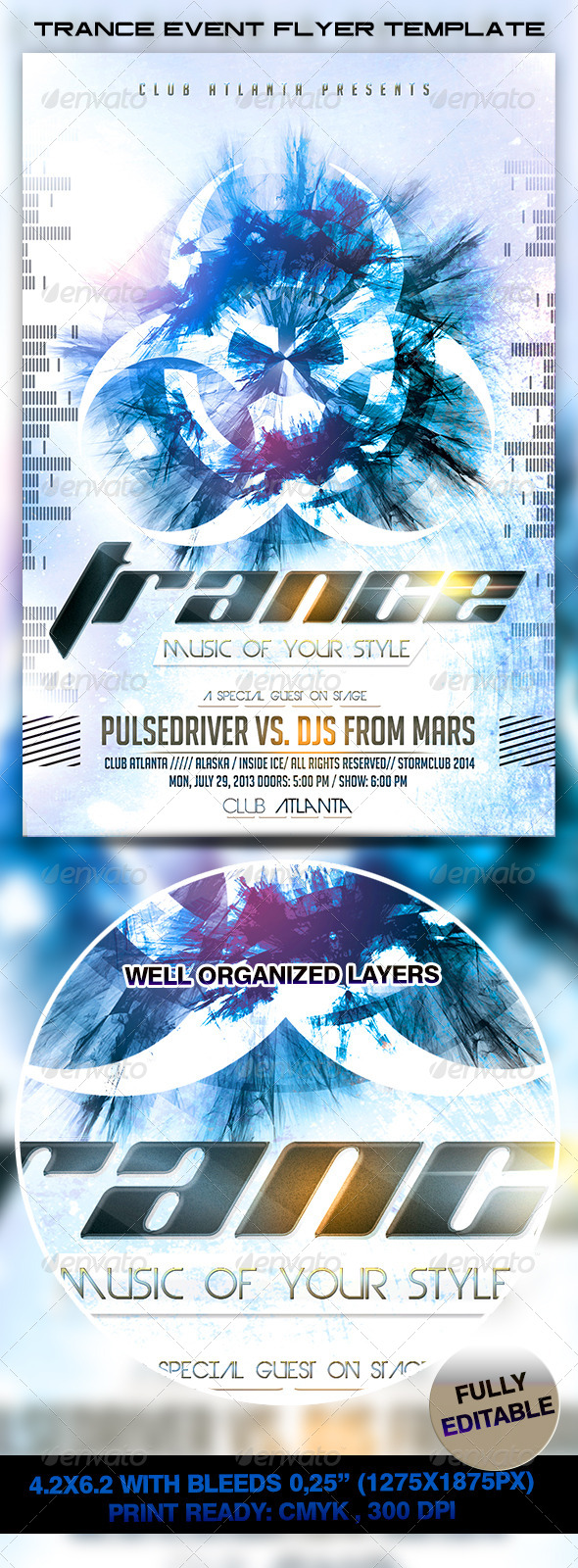 Trance Event Flyer Template - Events Flyers