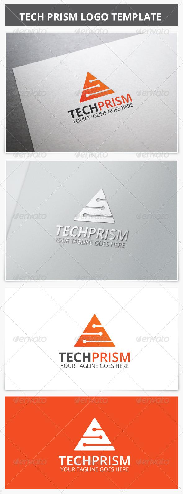 Tech Prism Logo - Vector Abstract