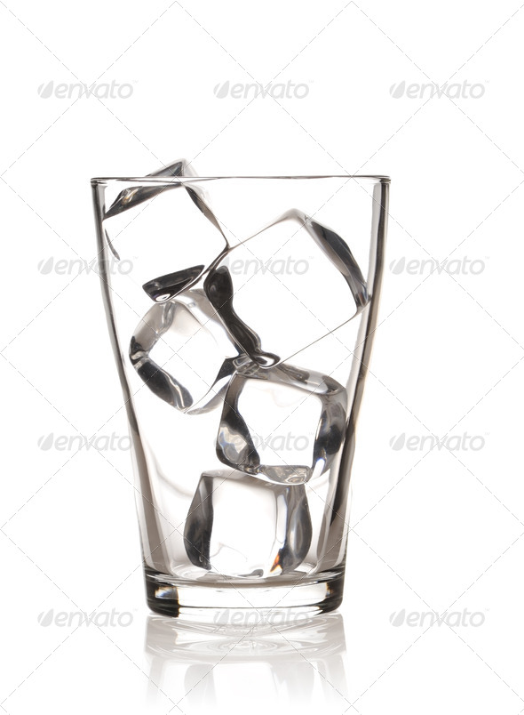 Glass with ice - Stock Photo - Images