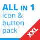 XXL Button Set + Social Media Pack - GraphicRiver Item for Sale