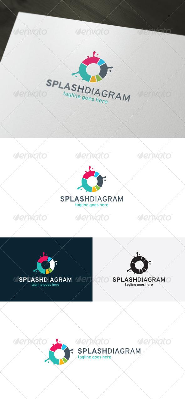 Splash Diagram Logo - Vector Abstract