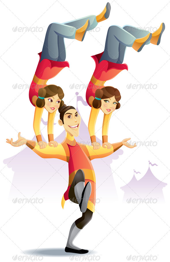 Circus Acrobatic Hand Standing - People Characters