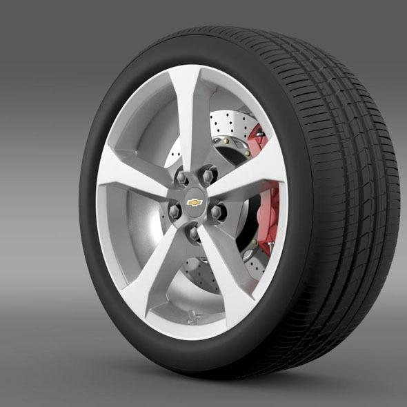 Chevrolet Camaro Convertible 2014 wheel - 3DOcean Item for Sale