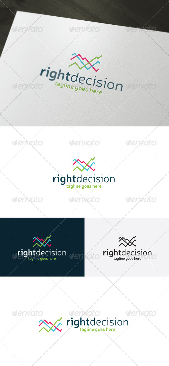 Right Decision Logo - Vector Abstract