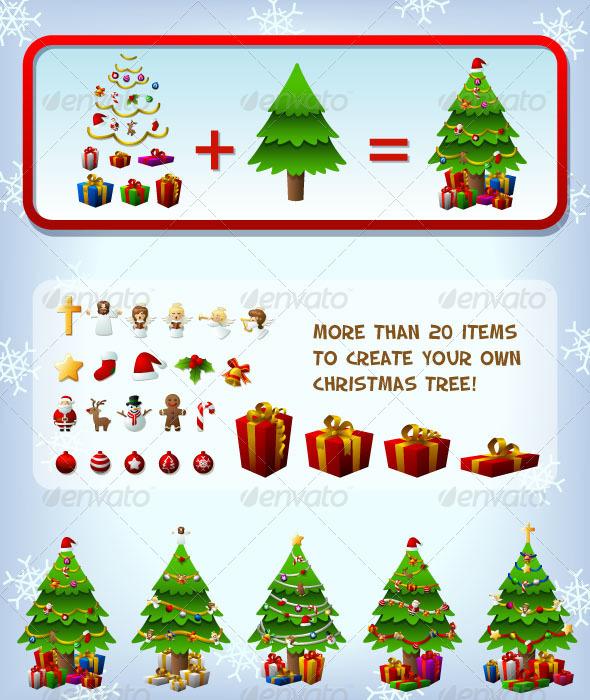Customizeable Christmas Tree - Christmas Seasons/Holidays