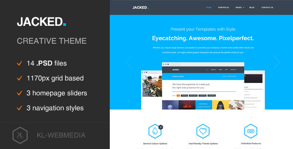 Jacked - Creative PSD Template - Portfolio Creative