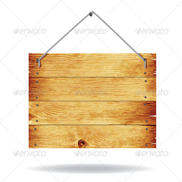 Wooden Sign - Borders Decorative