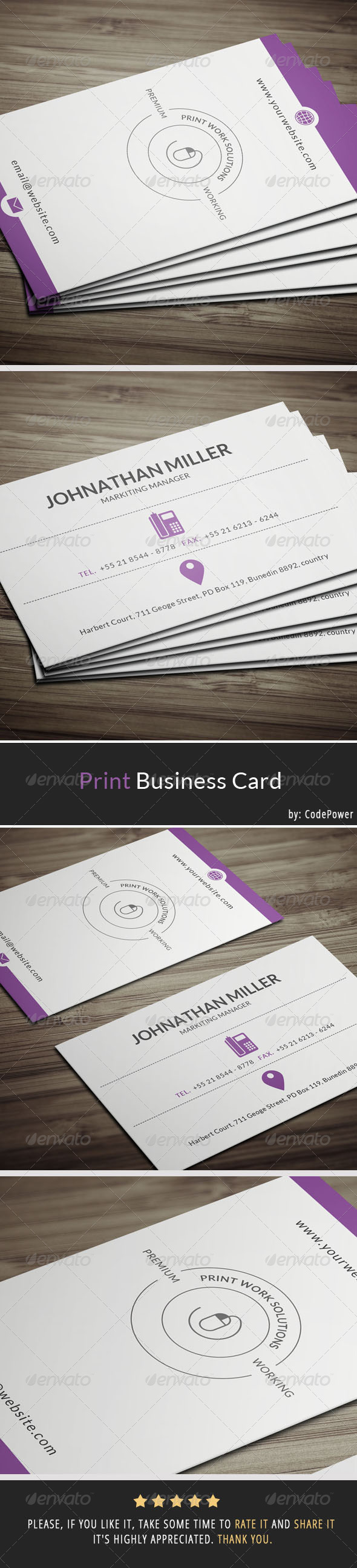 Print Business Card - Creative Business Cards