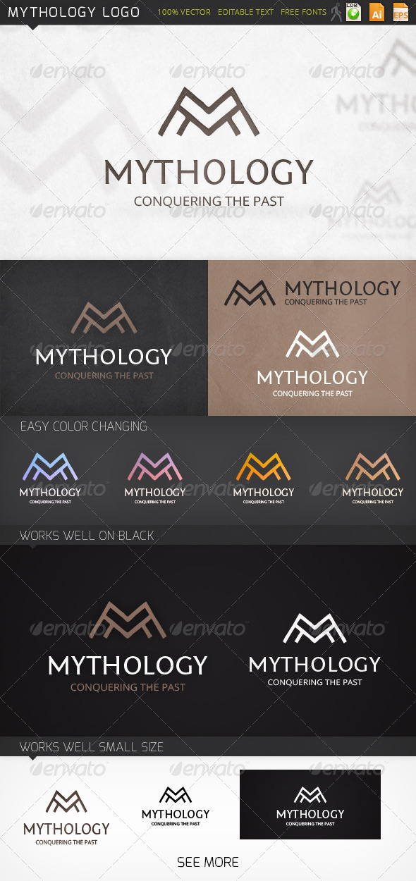 Mythology Letter M Logo Template - Letters Logo Templates