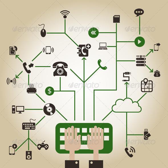 Electronics a Network - Computers Technology