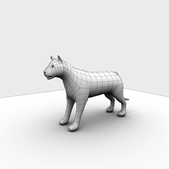 Low Poly Base Mesh Tiger - 3DOcean Item for Sale