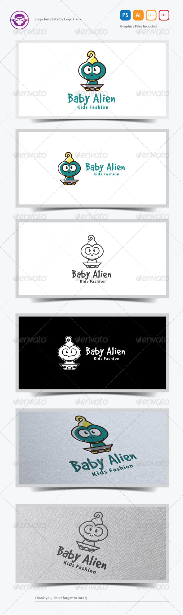 Baby Alien Logo Template - Humans Logo Templates