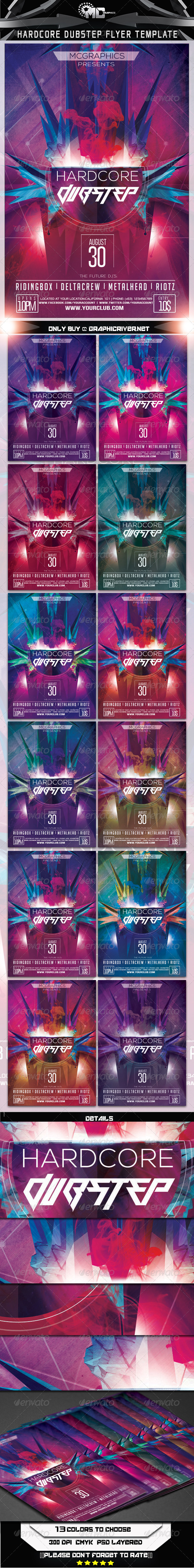 Hardcore Dubstep Flyer Template - Events Flyers