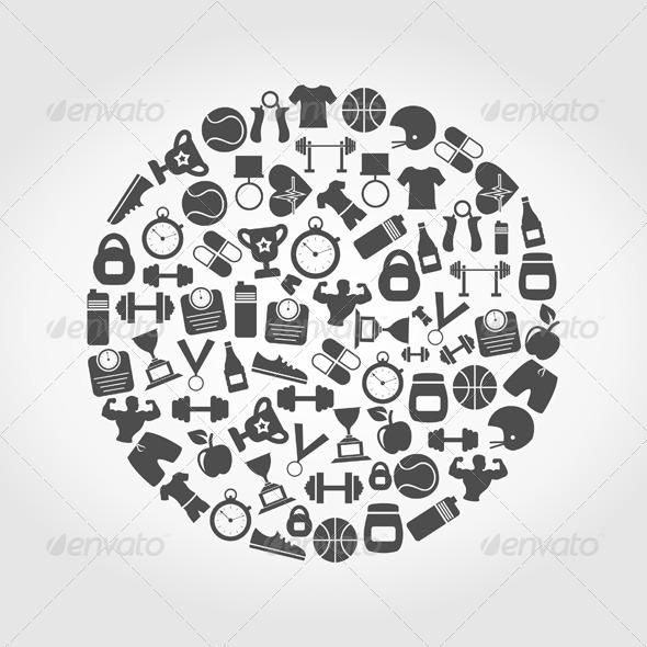 Sports a Circle - Sports/Activity Conceptual