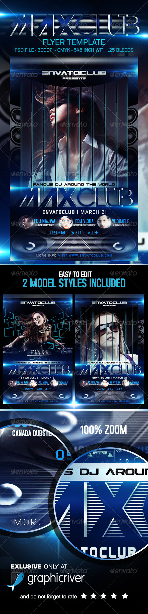 Maxclube Flyer Template - Clubs & Parties Events