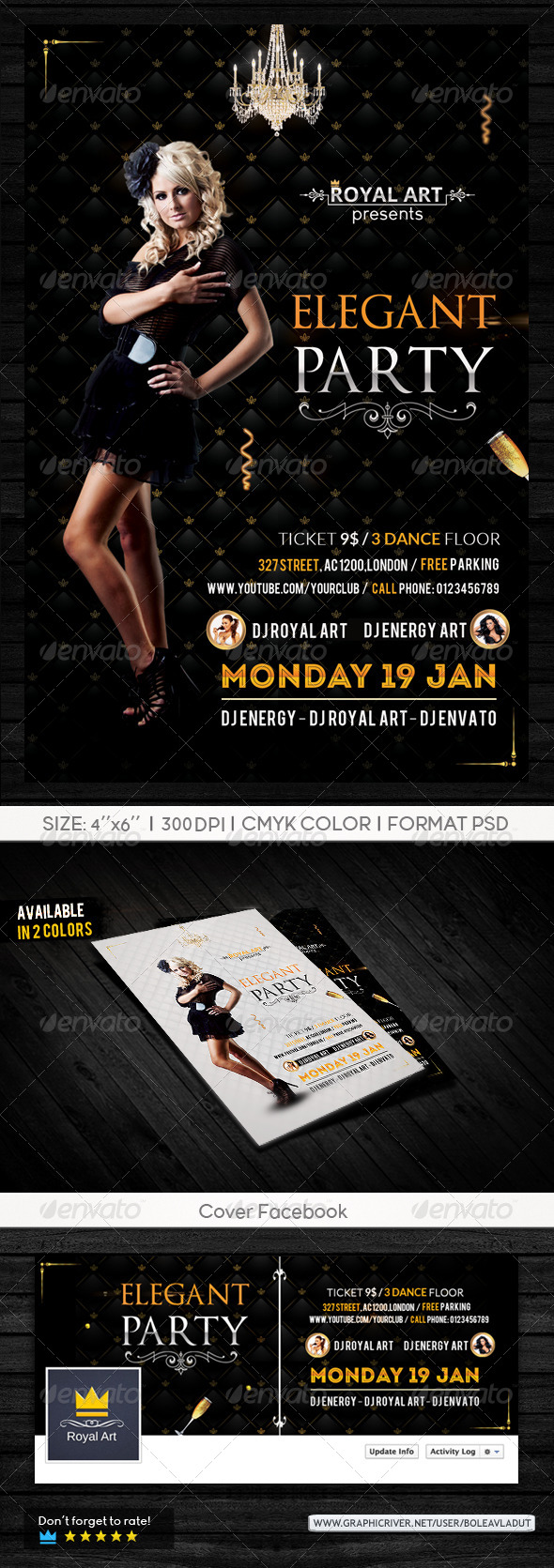Flyer Elegant Party - Clubs & Parties Events