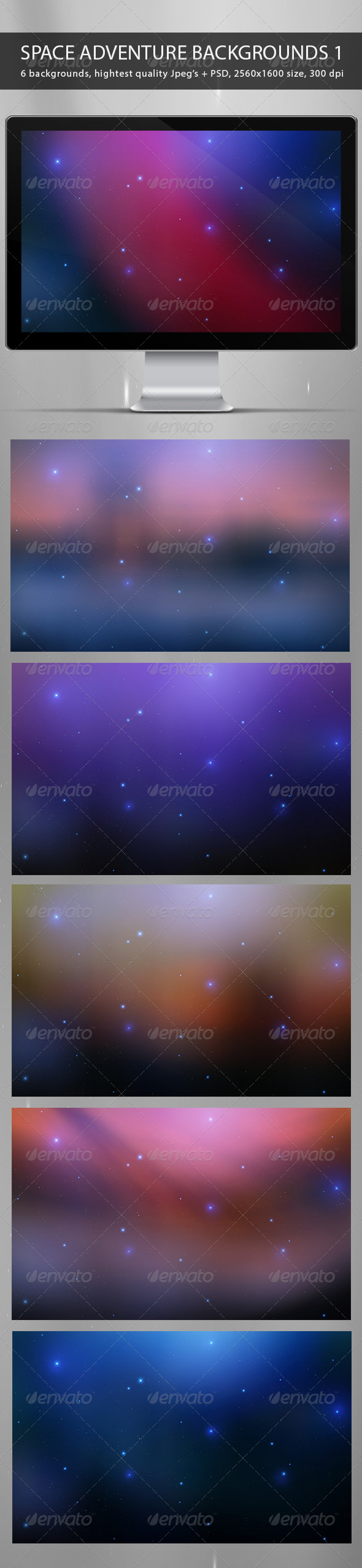 Space Adventure Backgrounds Part 1 - Abstract Backgrounds