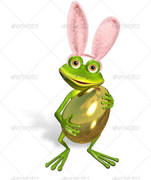 Easter frog - Characters 3D Renders